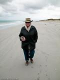 Lynne the King Island beachcomber