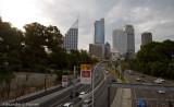 Freeway city view