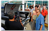 George Barris, Chuck Zito and Ralph Riccardi behind the camera