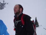 Tom re-thinking the 14-pound skis
