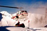 Bell 212 landing at Battle Abbey