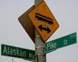 Alaska Way and Pike Street