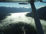 out the window, Eagle River en route to Anchorage