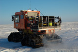 Sno-cat with gravity meter case