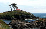 The lighthouse in Crescent City