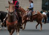 Parading horse