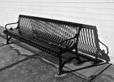 Bench at outdoor mall