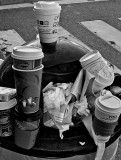 Empties until the bin is overfilled