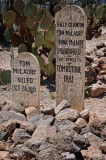 Results of the Gunfight at OK Corral.  Boot Hill, Tombstone