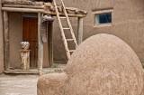 Taos Pueblo with Horno Outdoor Adobe Oven