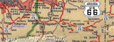 Old map of Route 66 in Arizona