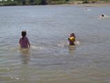 Swimming in Nile at Delgo