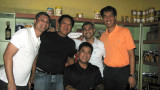 Andrei, Eddie, Ronnie, Monchit & Ed during lunch