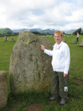 Sharon with Castle Rigg stone