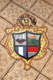 Escudo del Municipio en el Piso del Parque
