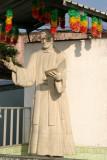 Estatua del Reverendo Cayetano Bertoldo Mena, Benefactor de Pueblo