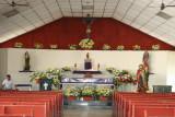 Interior de la Iglesia Catolica de Bananera