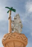 Detalle de San Cristobal en la Fuente del Parque
