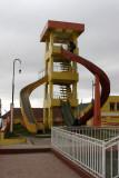 Resbaladero en el Area Infantil del Parque