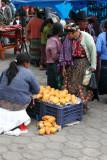 Venta de Mangos en el Mercado
