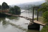 Puente Antiguo Sobre el Rio Polochic en la Aldea Teleman