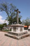 Detalle de Cruz en el Parque Central