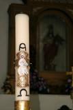 Detalle del Sirio Pascual en la Iglesia