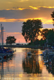 Sunset Grand Bend's Harbor, Ontario