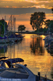 Harbor, Grand Bend, Ontario, Sunset