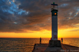 Lighthouse, Grand Bend, Ontario, Sunset