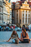 Resting in Old Town Square