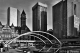 Nathan Phillips Square , Toronto BW