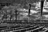 Pilars and Chairs , Toronto BW