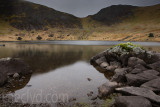 Snowdonia lake on a grey day
