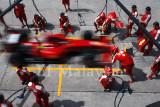 Ferrari team practices pit stops, F1