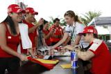 Ferrari fans with Kimi Raikkonen