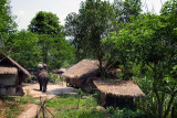 Walking into a Meo hill-tribe village