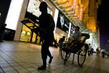 Bronze rickshaw puller