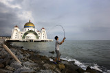 Angler at Malacca Straits Mosque