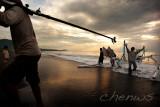 Fishermen returning from sea, Bali Island