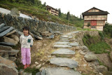 Village girl, Ping An, China