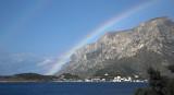 Rainbow and Telendos close-up