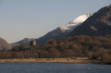 Llanberis Lyn Padarn and snowy peaks