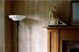 lamp and statue