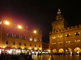 BOLOGNA , Palazzo dei Notai (left side) and Palazzo d'Accursio (right side)