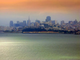 Light,fog and clouds want to play with me,but San Francisco is watching me from afar...