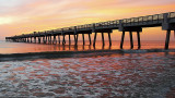 Jacksonville Beach Pier at Sunrise