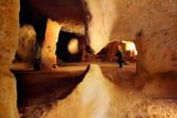 Ghost inside the dark caves of  Zelve