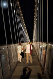 Ram Jhula Bridge at full moon