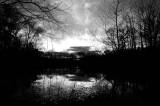 Black Water Sunset